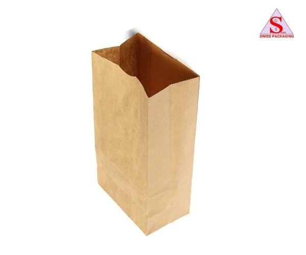 Khaki paper bags
